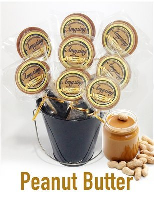 Amyzing Peanut Butter Caramel Pops   (10, one-ounce pops)