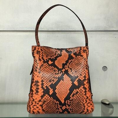 Anna - Orange snake print