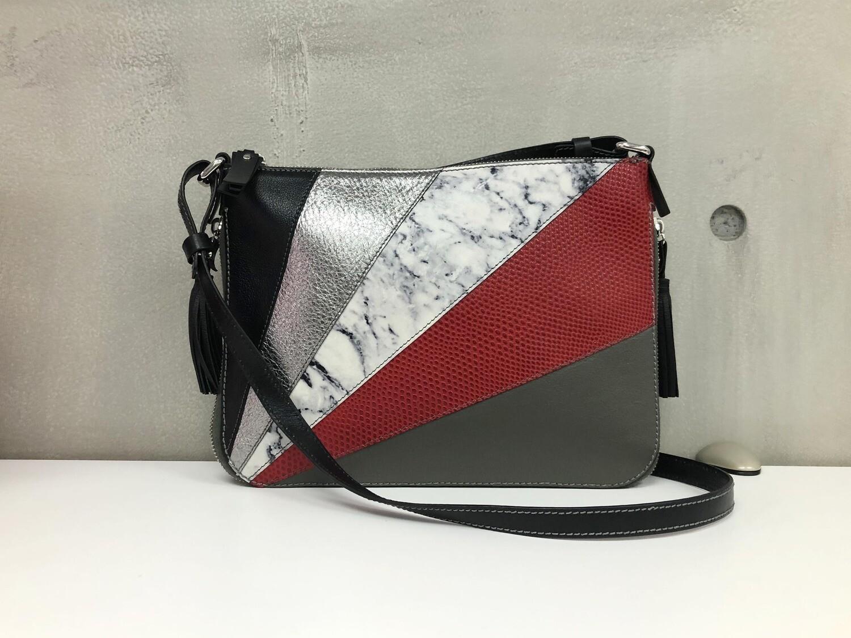 Lisa - Red, grey & white