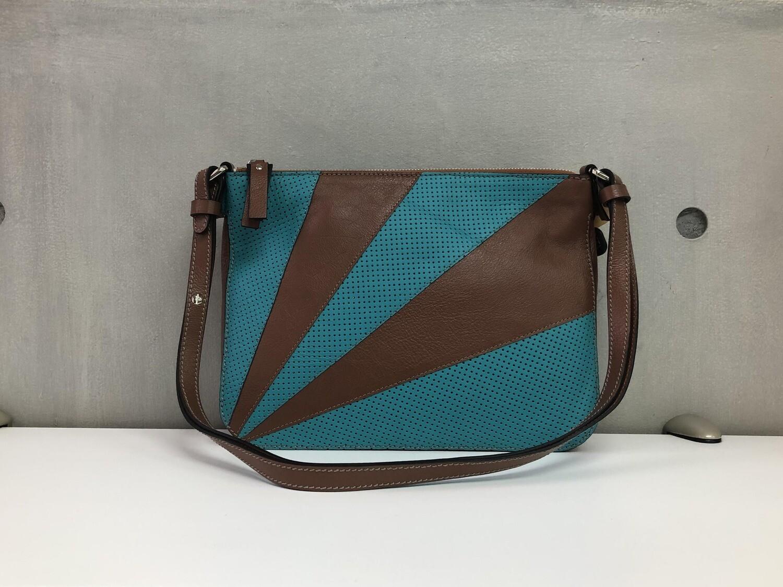Lisa - Aqua Blue & Brown