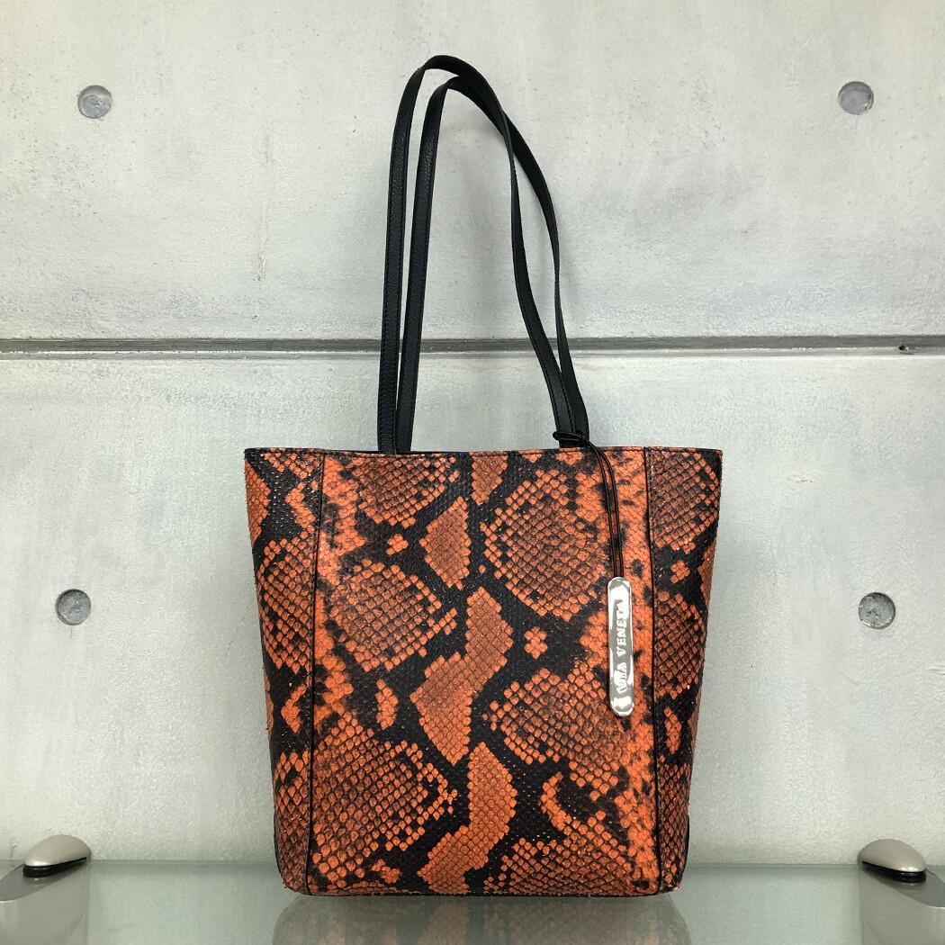 Daisy - Orange Snake print
