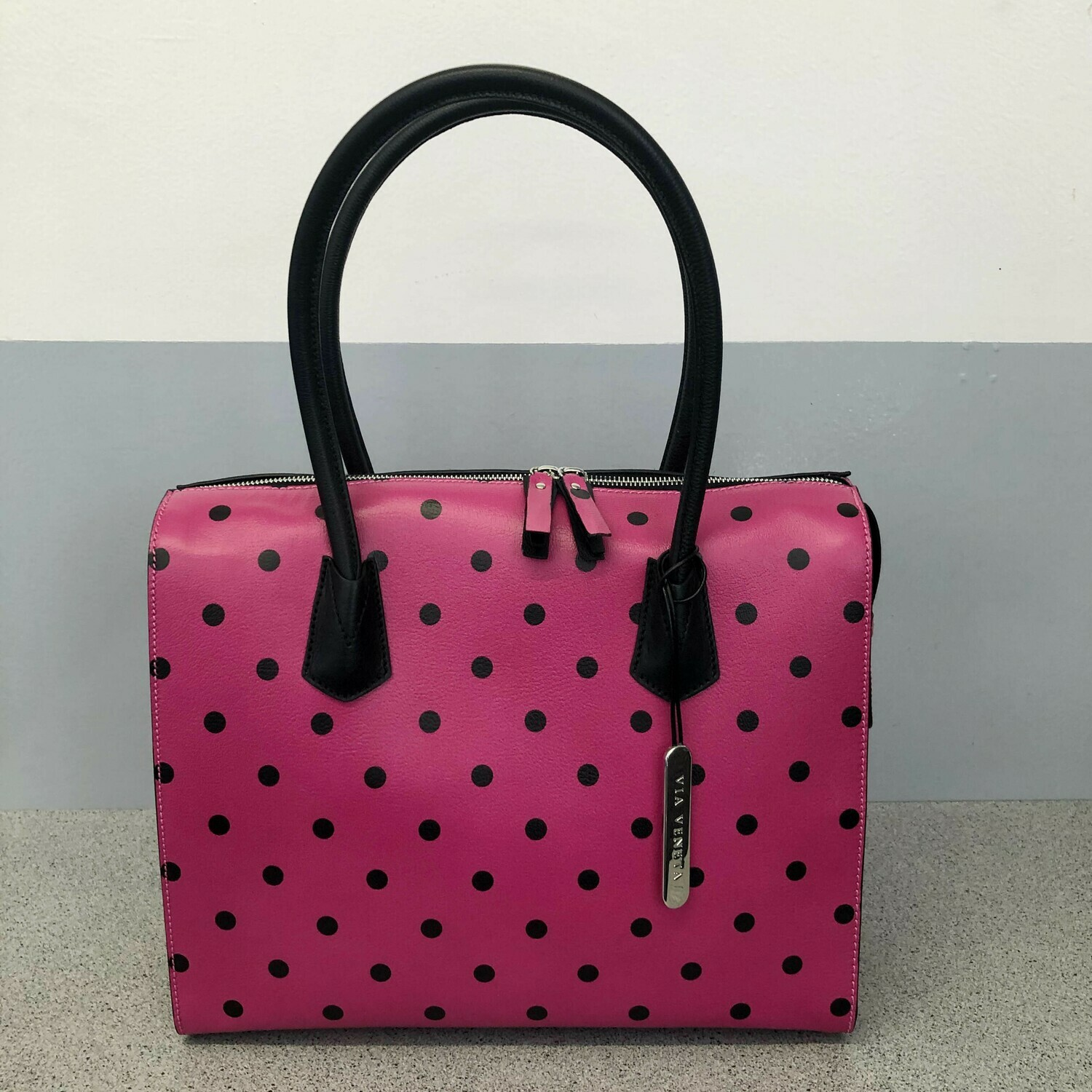 Becky - Pink with Polka dots