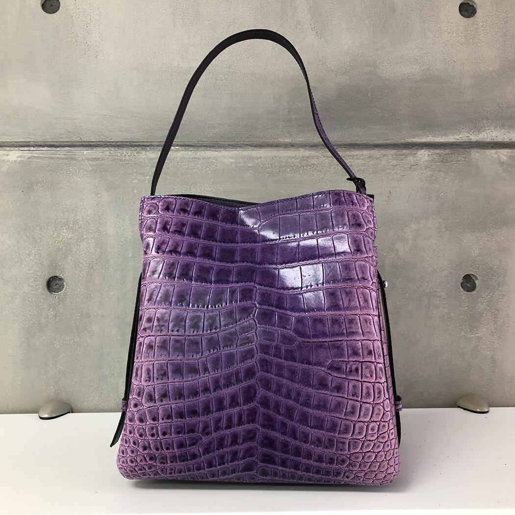 Anna -Purple Croc pattern