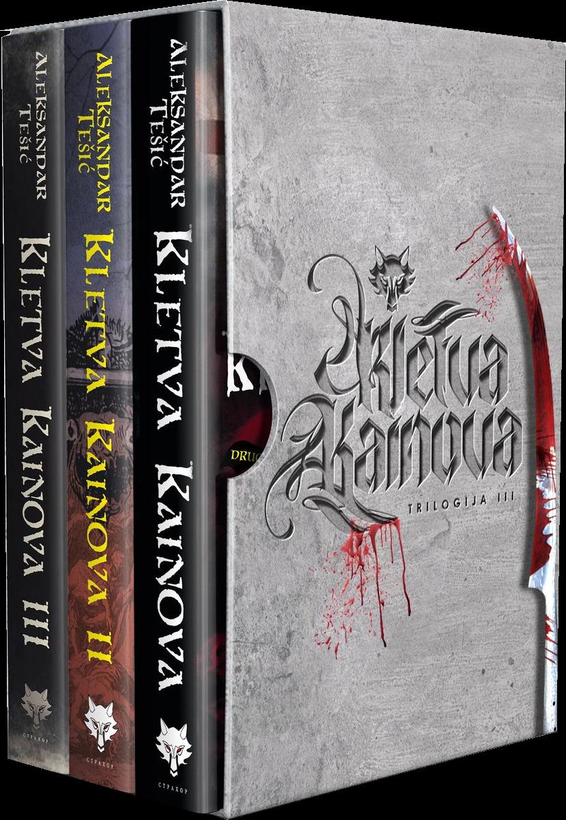 Komplet trilogija Kletva Kainova u ukrasnoj kutiji