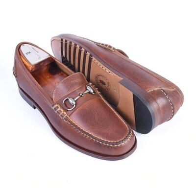 Martin Dingman All American Oiled Saddle Leather Horse Bit Loafer