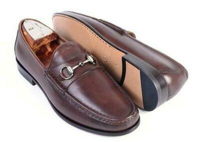 Martin Dingman Addison Dress Calf Leather Horse Bit Loafer