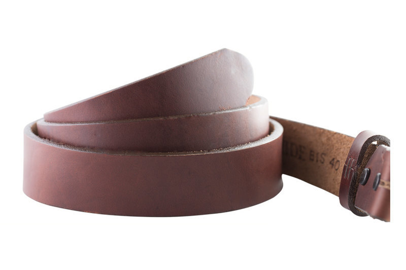 HookNHide Brown Leather Belt Strap