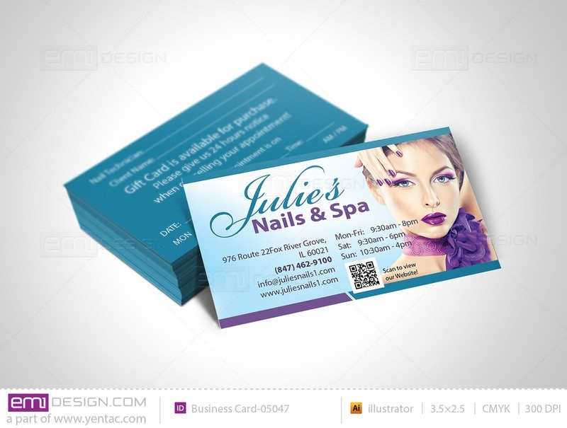 Business Card - Template buscard-05047 - Julie Nails