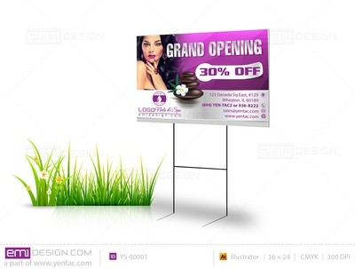 Yard Sign Template YS-00001