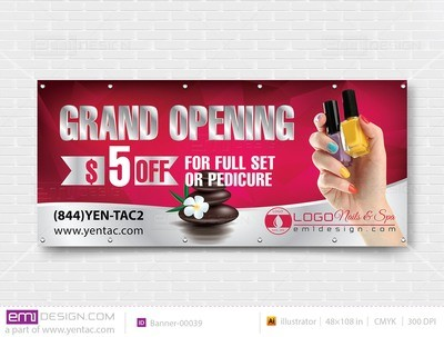 Banner - Outdoor Size 4x6 No Picture Template banner-00039