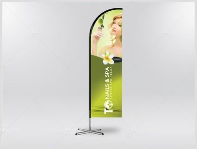 05.1.2 - Banner Flag - Design & Printing - TO Nail Spa Franchise
