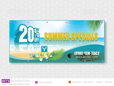 Outdoor Banner - Size 4x9 No Picture Template: 00033