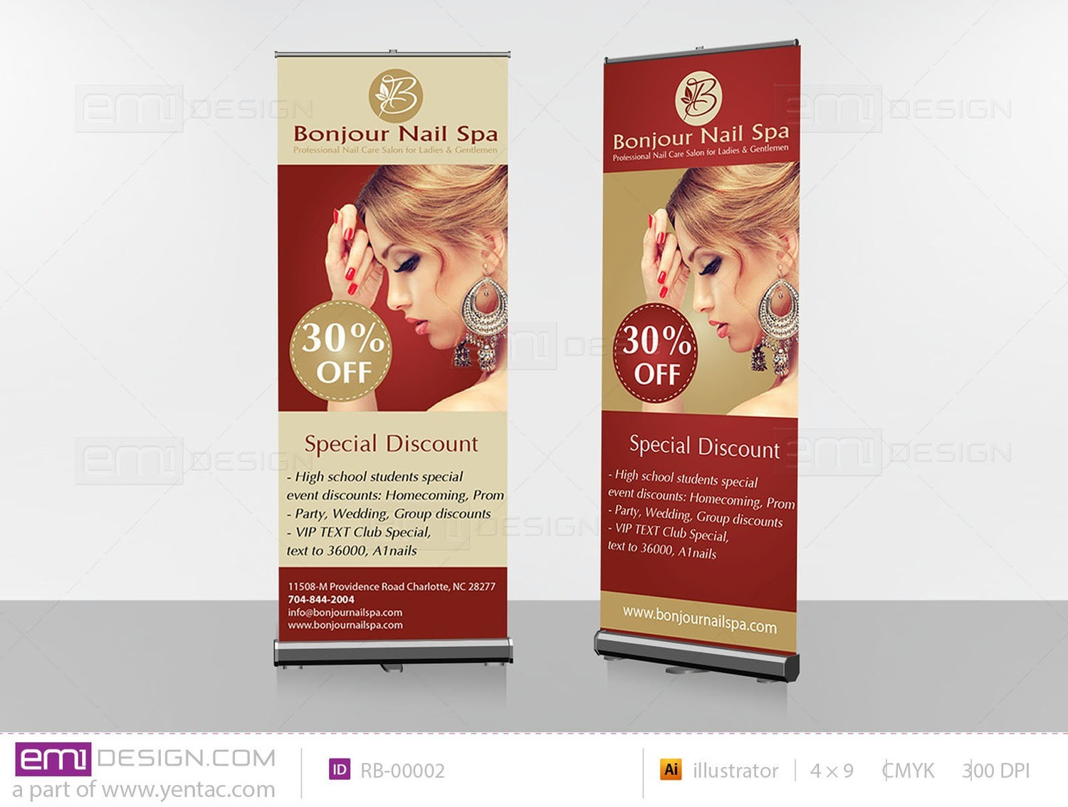 Retractable Banner Template RB-00002