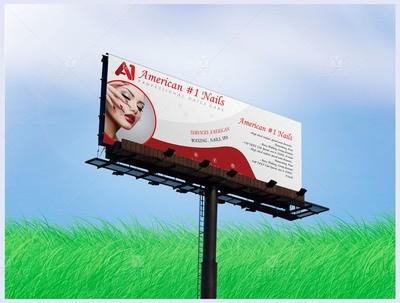 05 - Banner Billboard A1 Nail Salon #1001