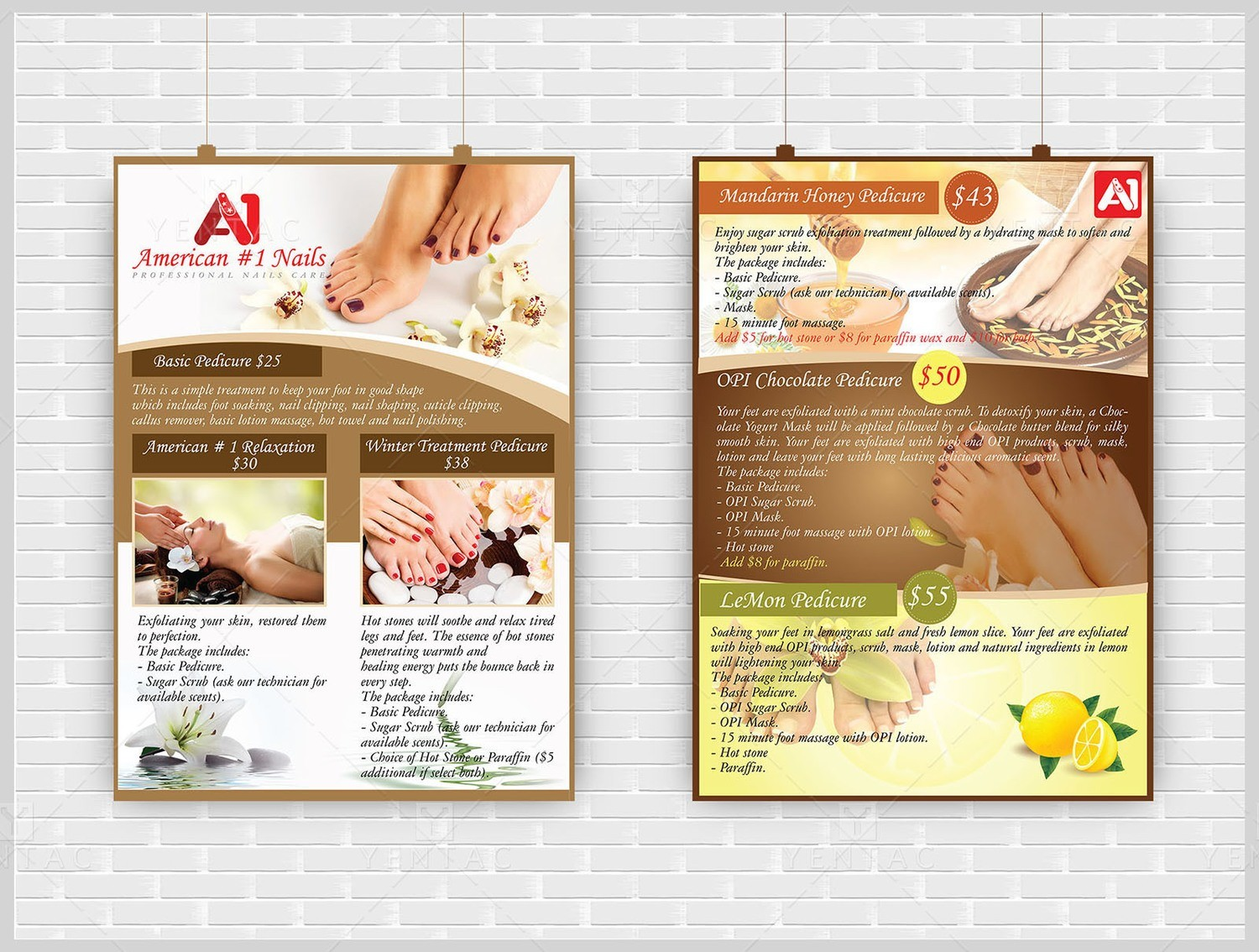 10 - Promotions - Flyers - A1 Nails Spa  #1001