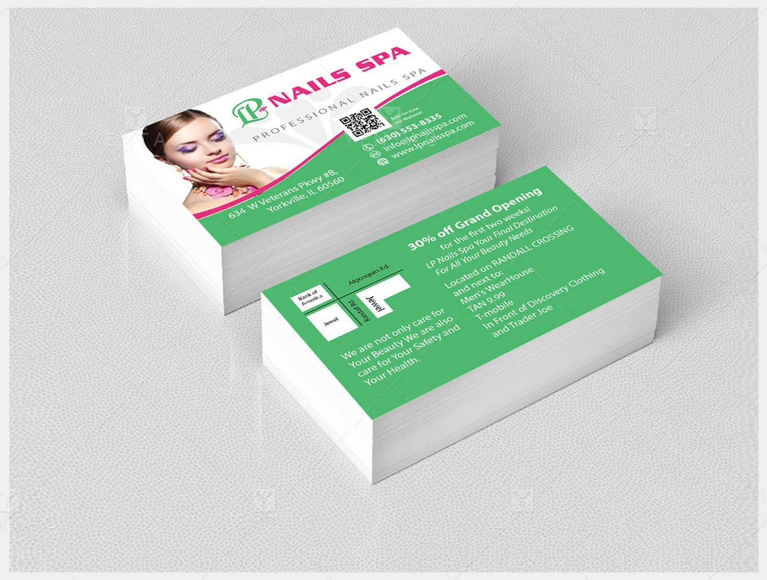 Brand-Design-Beauty-Business Card - LP Nails Spa #5069 Salon