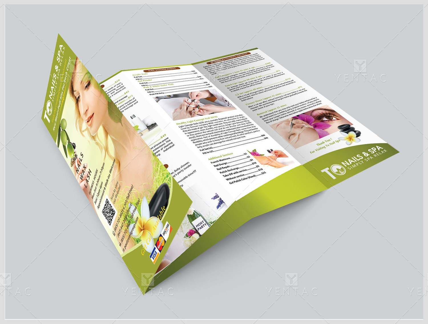Menu-Take-Out - 8.5x14 with Four Fold (Accordion Fold) TO Brand Franchise ClientID #3011 Salon