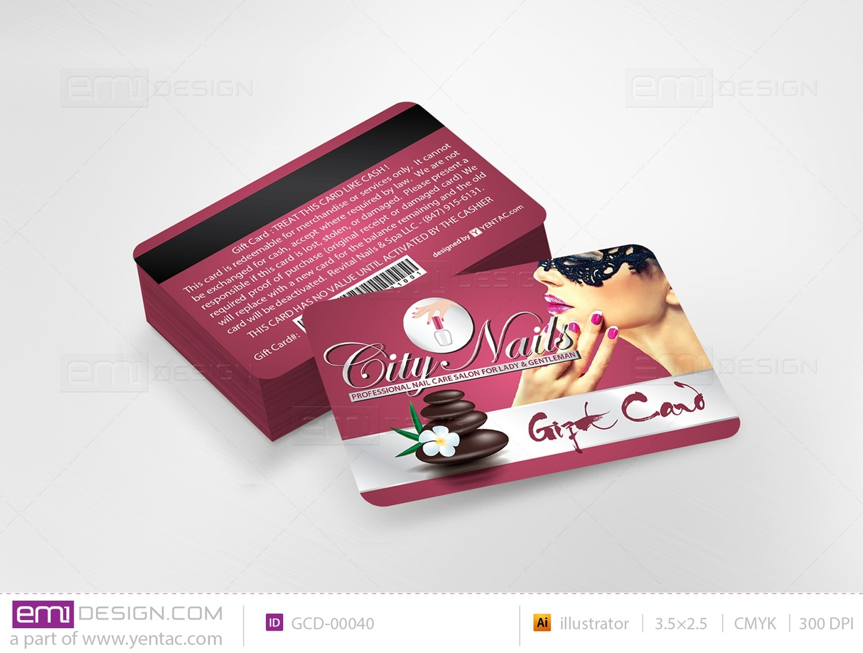 Plastic Gift Card Template - GCD-05108B