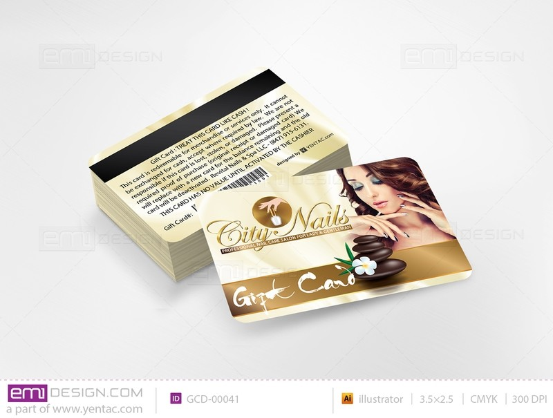 Plastic Gift Card Template - GCD-05108A