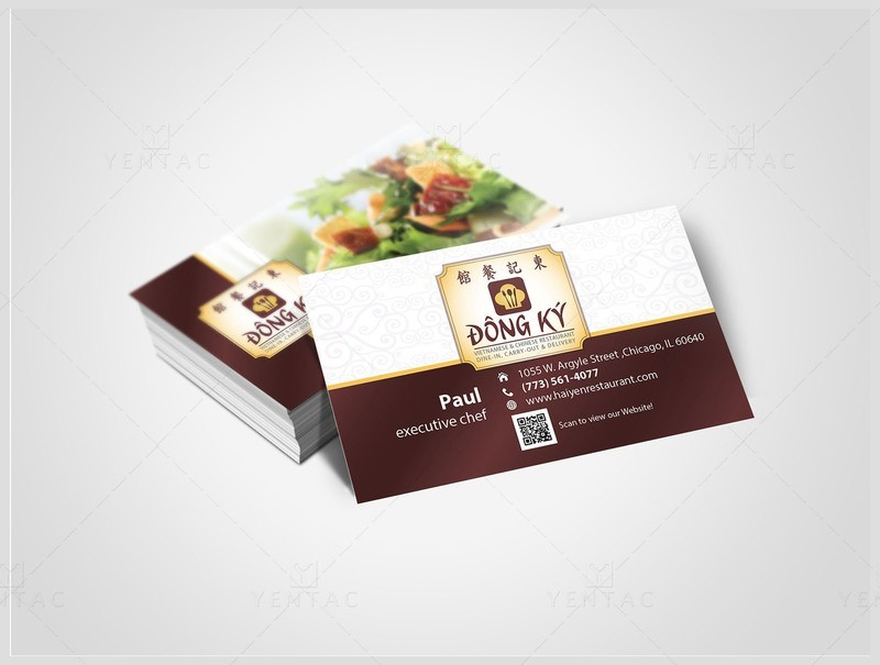 02 - Business Card - Restaurant #5125 Dong Ky