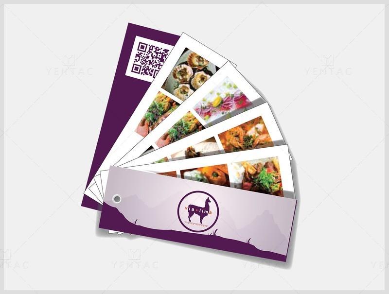 03 - Menu Swatch Book - Restaurant #8000 Via Brand