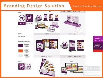 Branding Design Solution - Restaurant #8000 Via Brand