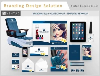 Dark Blue Branding NL216-Classics Color - Stationary Mockup - YENTAC Nail Salon Templates #BT000014