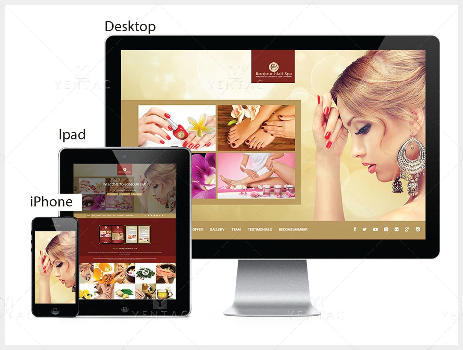 101 - Web Design Solution - Bonjour Nails Spa #5070 Salon