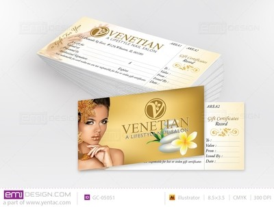 Gift Certificate Template GC-05051