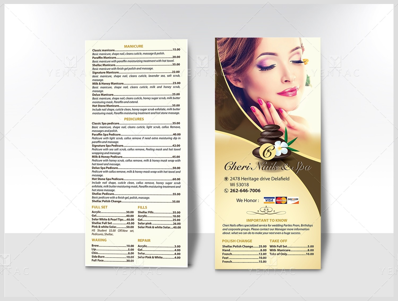04.2 - Menu Take Out - Rack Card - Size 4x9 - Template