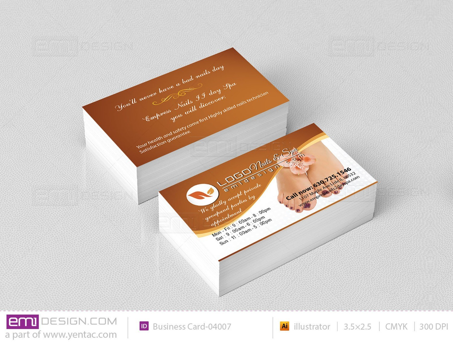 Business Card - Template BusCard-04007 - Empress Nails
