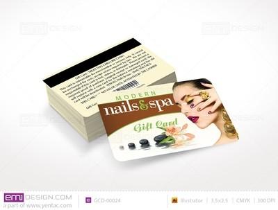 Plastic Gift Card Template - GCD-00024