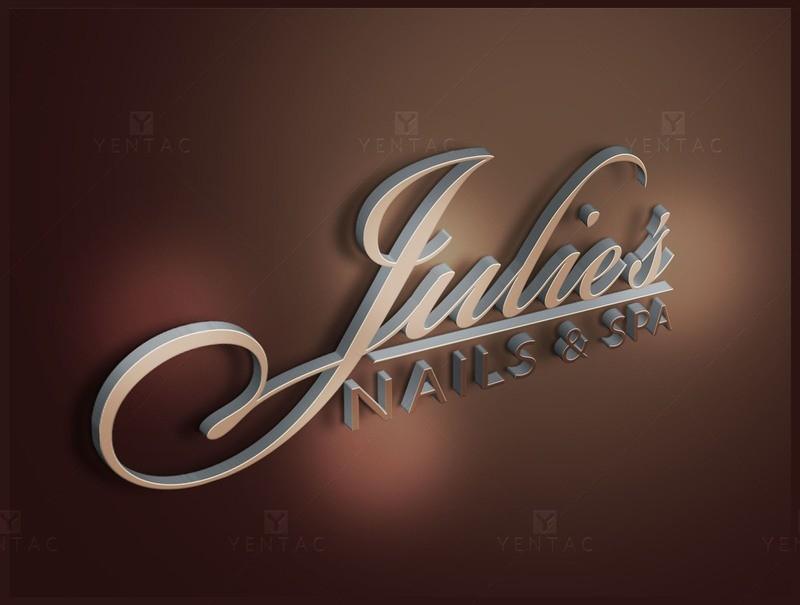01 - Logo Design - Julies Nails Spa #5047 Salon