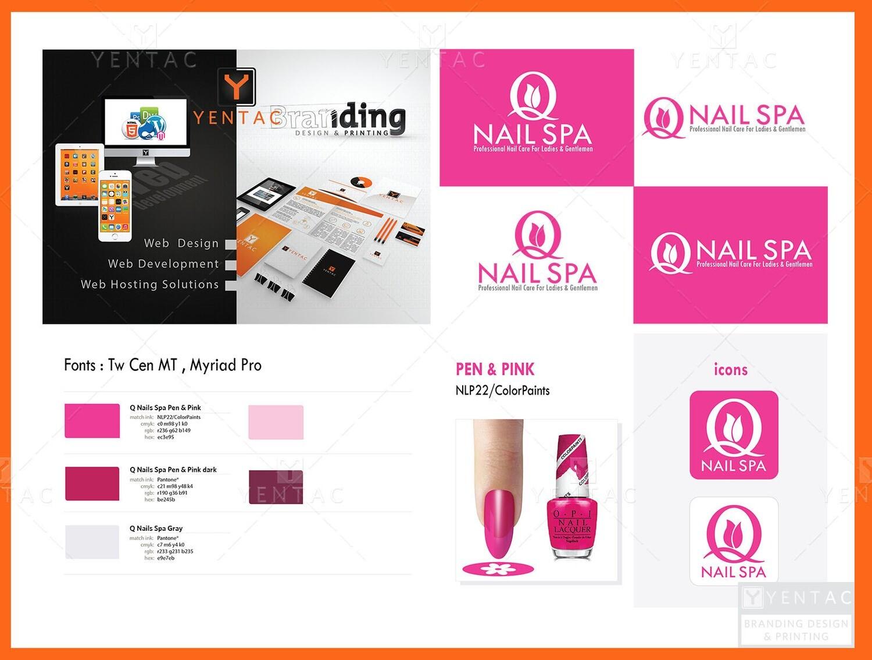 Logo - Nail Salon #5032 Q NAIL Brand