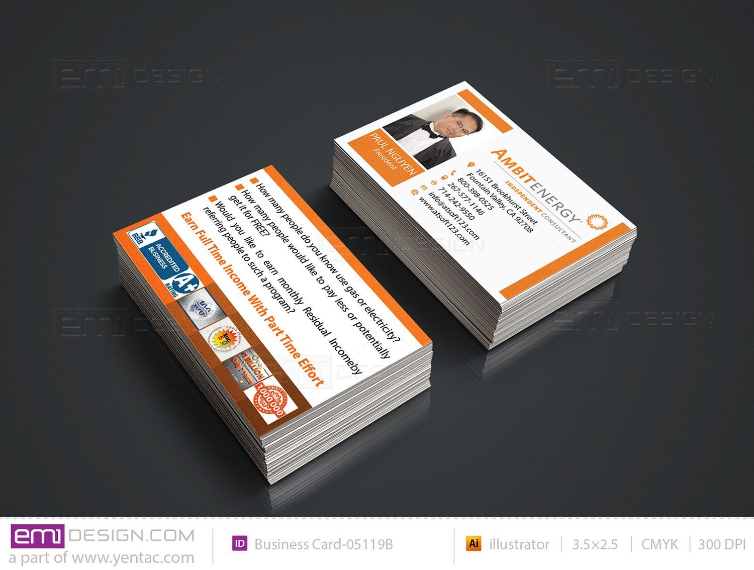 Business Card - Template BusCard-05119B