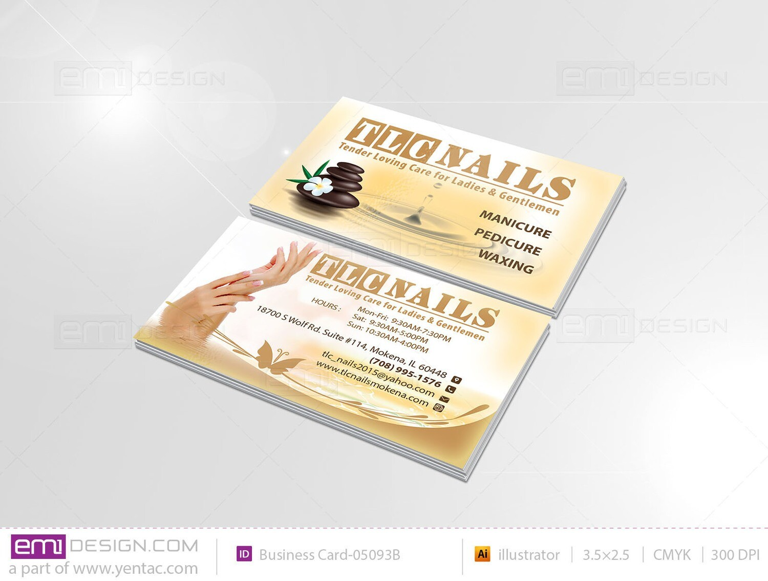 Business Card - Template BusCard-05093B