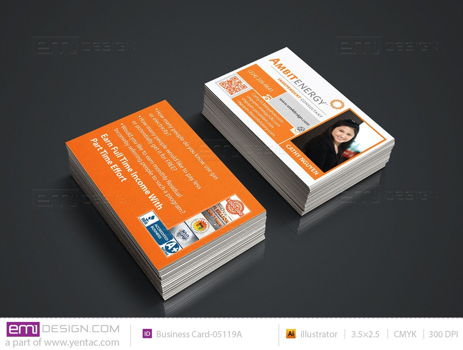 Business Card - Template BusCard-05119A