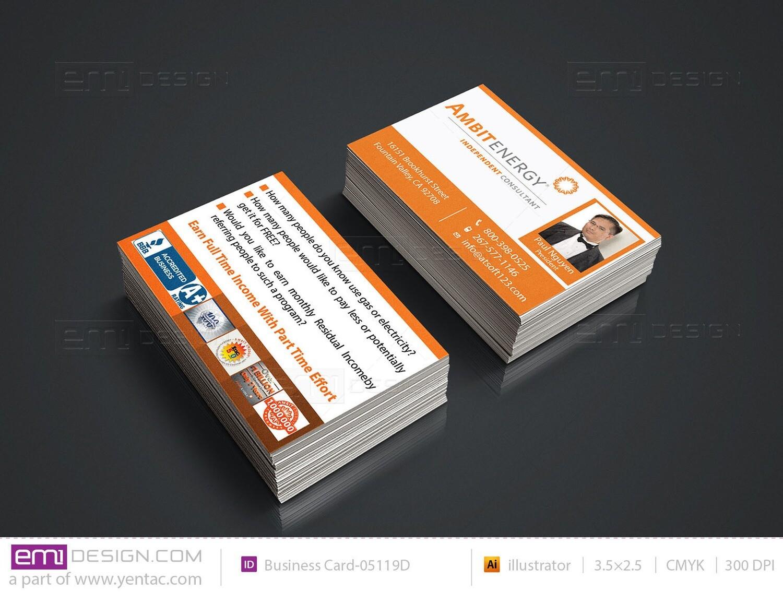 Business Card - Template BusCard-05119D