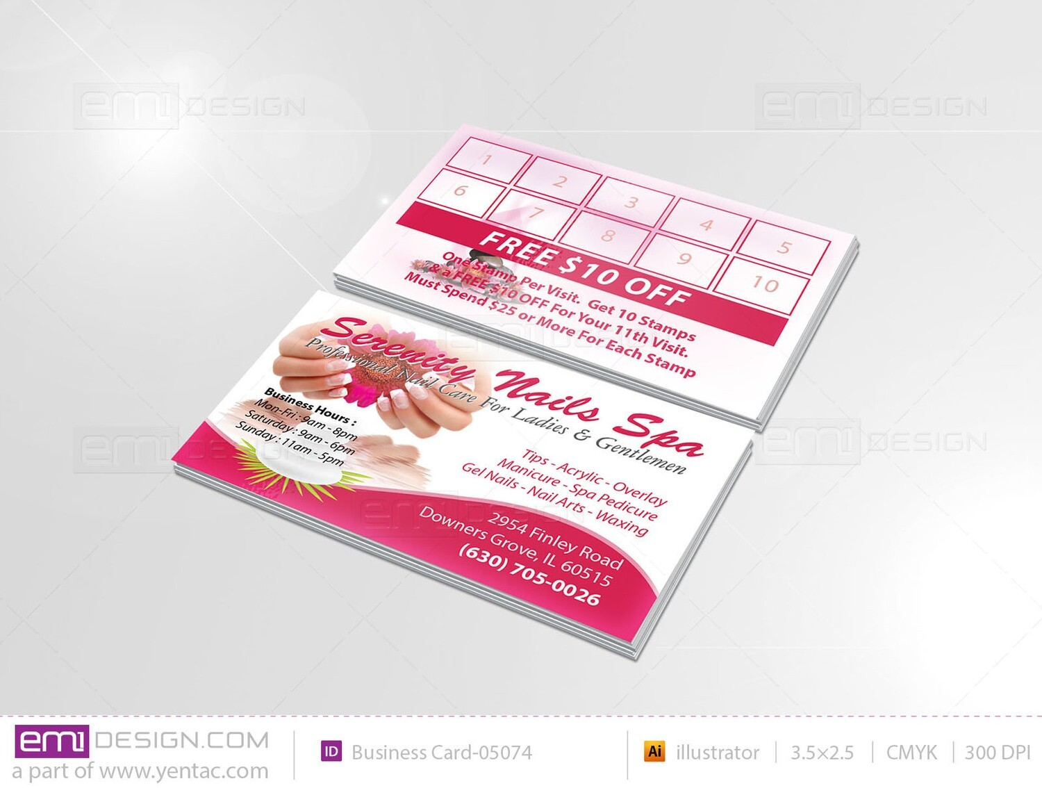 Business Card - Template BusCard-05074