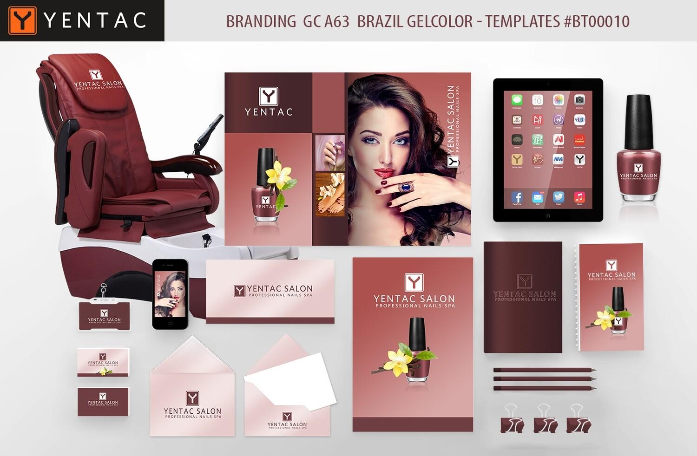 BRAZIL Branding GC A63 GEL Color - Stationary Mockup - YENTAC Nail Salon Templates:  BT000010
