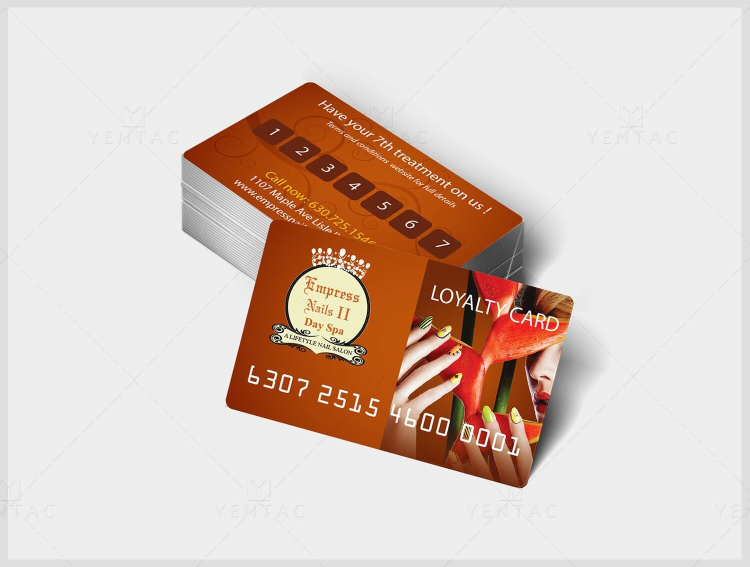 06 - Plastic Loyalty Card - Empress Nails Spa #4007 Salon