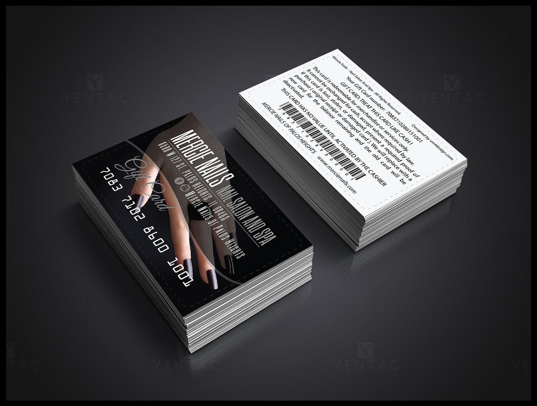 02 - Business Card Nail Salon Template #5067-B