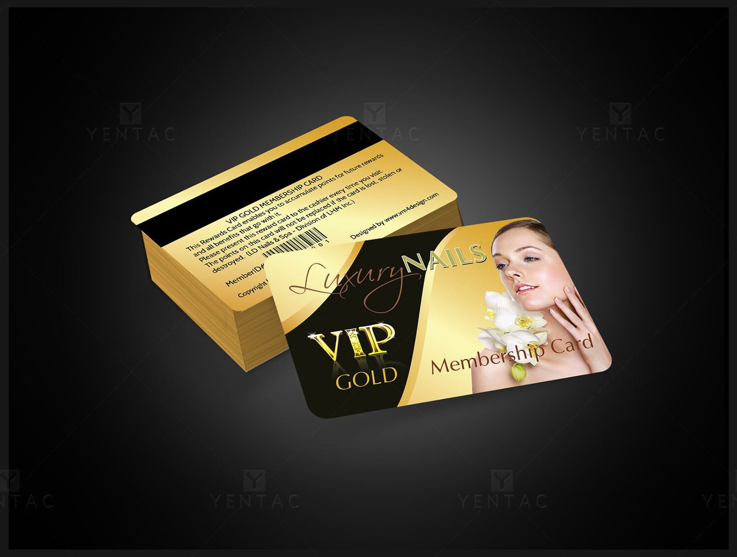 06 - Plastic VIP Card - Luxury Nails Spa #0991 Salon