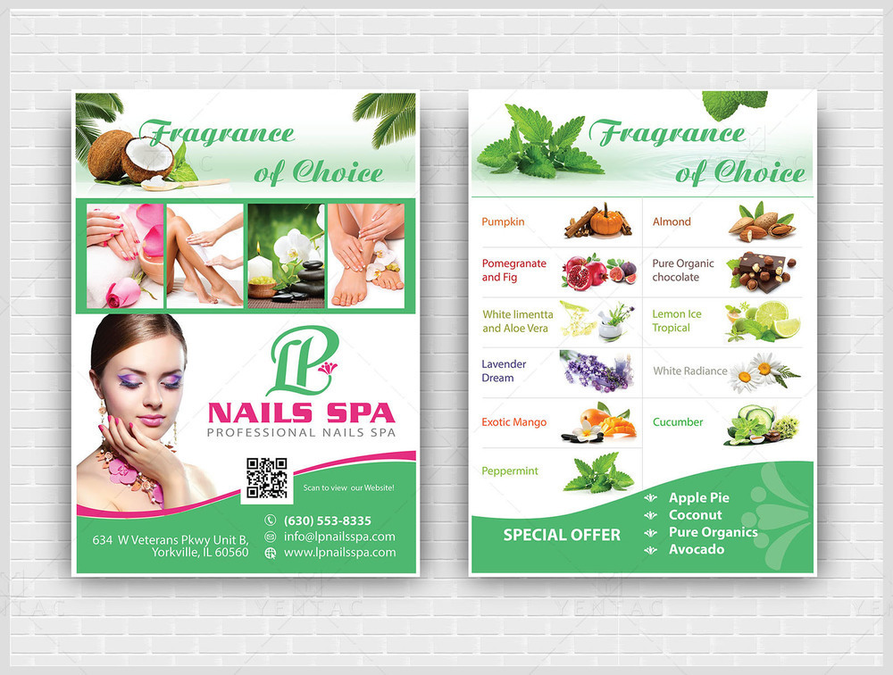 10 - Promotion - Laminate Flyer - LP Nails Spa #5069 Salon