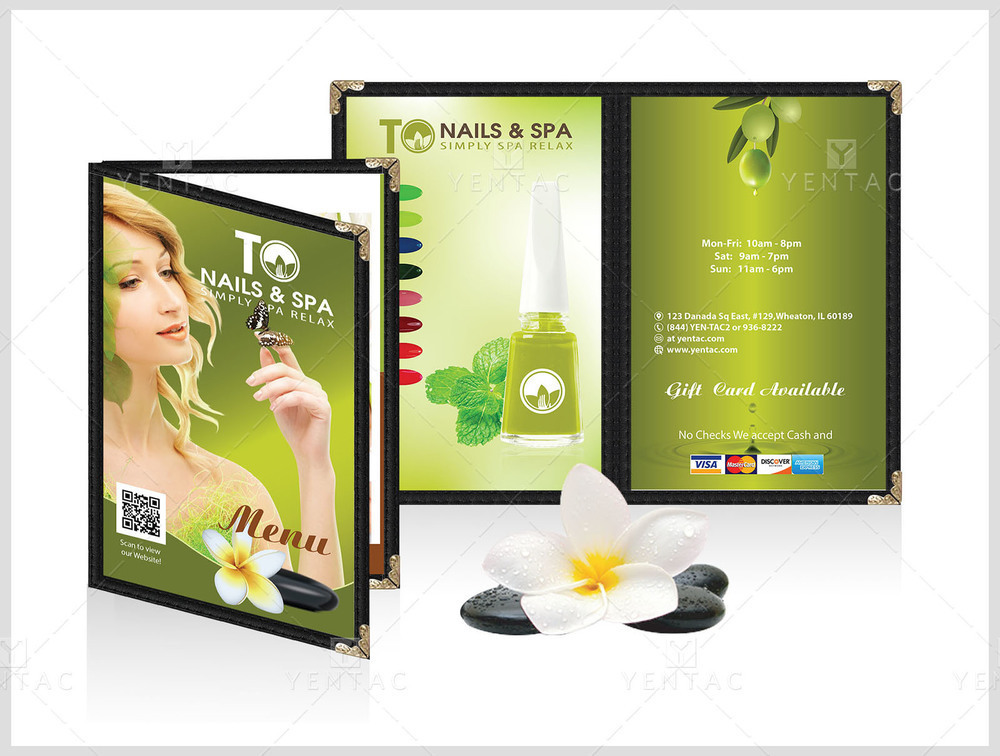 Menu Book 5.5 x 8.5 - Client ID:  3011 TO Brand (Franchise)