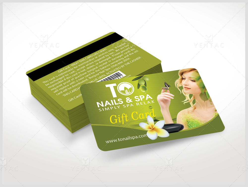 Plastic Gift Card Template - GCD-03011