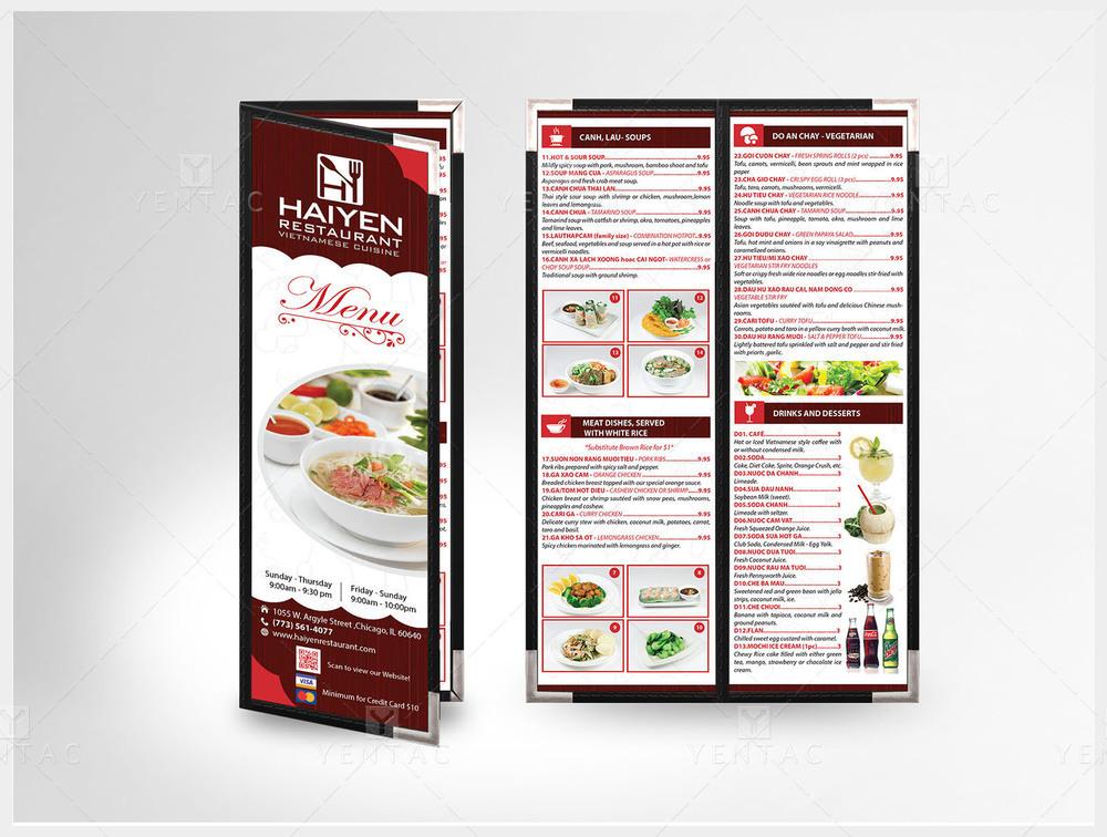 04 - Menu Take-Out - Restaurant #1003  Hai Yen