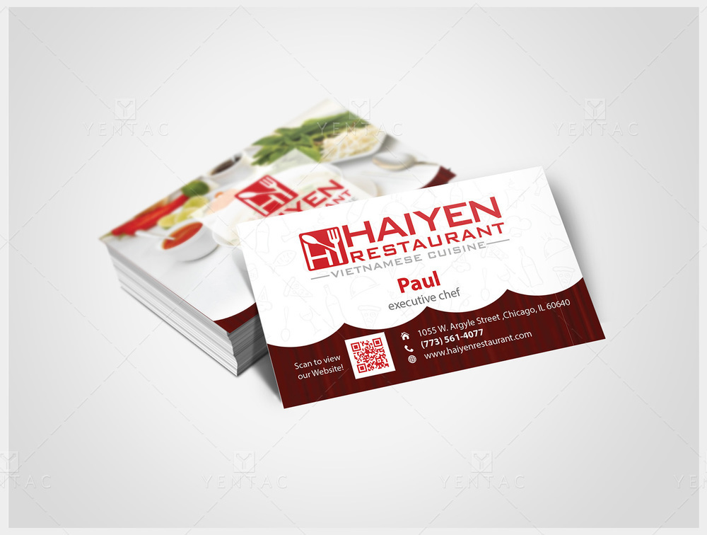 Business Card - Restaurant #1003  Hai Yen