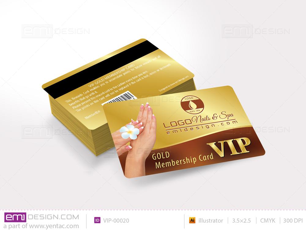 Plastic VIP Card Template- VIP-00020