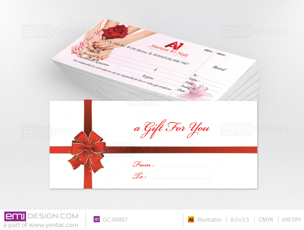 Gift Certificate Template GC-00007
